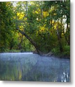 Mist On The Wissahickon Metal Print
