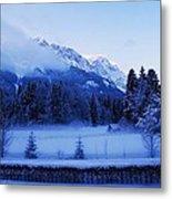 Mist Over Alps Metal Print
