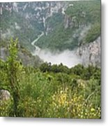 Mist Over Grand Canyon Du Verdon  Metal Print