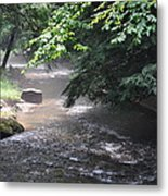 Mist Over The Water Metal Print