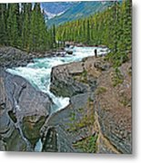 Mistaya Canyon Along Icefield Parkway In Alberta Metal Print