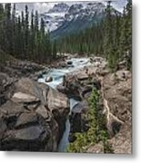 Mistaya River And Canyon Metal Print