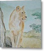 Mistress Of All She Surveys Metal Print by Katie Spicuzza
