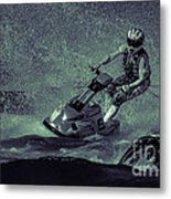 Scary Split-second At Sixty Mph Metal Print