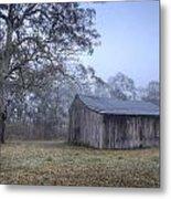 Misty Barn Metal Print by Steve Caldwell