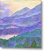 Misty Blue Ridge Metal Print