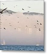 Misty City Metal Print