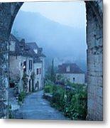 Misty Dawn In Saint Cirq Lapopie Metal Print by Brian Jannsen