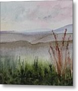 Misty Day In Nek Metal Print