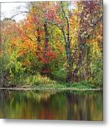 Misty Fall Metal Print