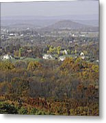 Misty Fall Pano Of The Shenandoah Valley Metal Print