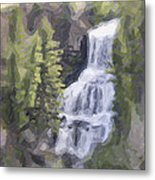 Misty Falls Metal Print by Jo-Anne Gazo-McKim