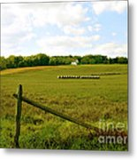 Misty Hills Farm Metal Print by Addie Hocynec