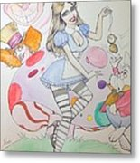 Misty Kay In Wonderland Metal Print