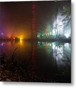Misty Light Reflections Metal Print