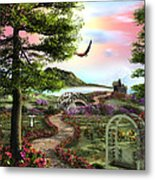 Misty Meadow Metal Print