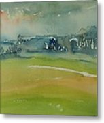Misty Morning, 1981 Wc On Paper Metal Print