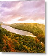 Misty Morning At Lake Of The Clouds Metal Print