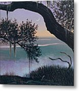 Misty Morning At Seabrook Metal Print