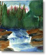 Misty Morning Brook In Hudson Valley Metal Print