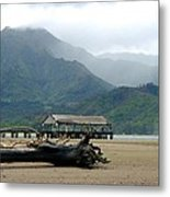 Misty Morning Hanalei Metal Print