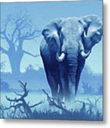 Misty Blue Morning In The Tsavo Metal Print