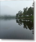 Misty Morning Reflections Metal Print