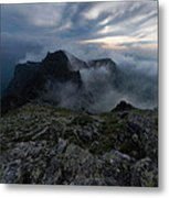Misty Peaks And A Whiff Of Danger Metal Print