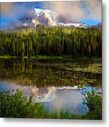 Misty Reflection Metal Print