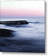 Misty Sea Metal Print