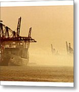 Misty Seattle Waterfront Metal Print