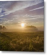 Misty Sunrise At Valley Forge Metal Print