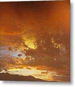 Misty Sunset Metal Print