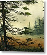 Misty Tideland Forest Metal Print by James Williamson