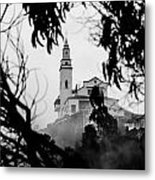 Misty View Of Monserrate Church Metal Print