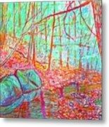 Misty Woods Metal Print