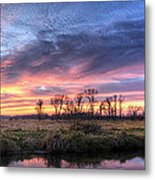 Mitchell Park Sunset Panorama Metal Print