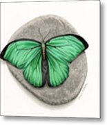 Mito Awareness Butterfly- A Symbol Of Hope Metal Print