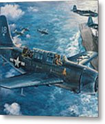 Mitscher's Hunt For The Rising Sun Metal Print