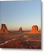 Mittens And Merrick Butte Monument Valley Metal Print