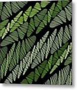 Mixed Assembly-green Metal Print