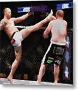 Mixed Martial Arts - A Kick To The Head Metal Print
