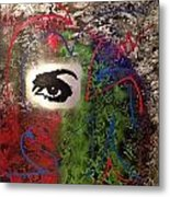 Mixed Media Abstract Post Modern Art By Alfredo Garcia Eye See You 2 Metal Print