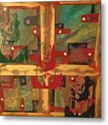 Mixed Media Abstract Post Modern Art By Alfredo Garcia The Blond Bombshell 3 Metal Print