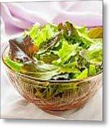Mixed Salad On Table Metal Print