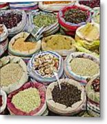 Mixed Spices In Market Of Cairo Egypt Metal Print