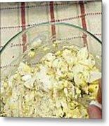 Mixing Egg Salad Ingredients Metal Print