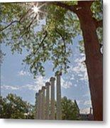 Mizzou Columns Sunflare Metal Print