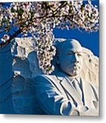 Mlk Memorial Framed By Cherry Blossoms Metal Print