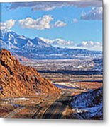 Moab Fault Medium Panorama Metal Print by Adam Jewell